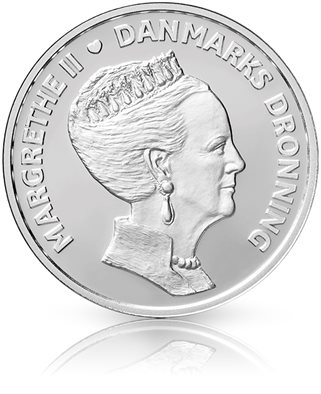 HM Queen Margrethe II´s 80th birthday - 500-krone coin silver