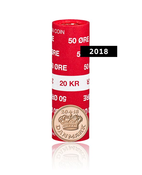 Danish Coin 50 Ore From 2018