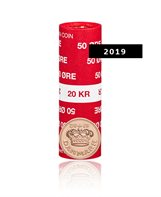 50-øre - 2019  Uncirculated coin (roll of 40 pcs)