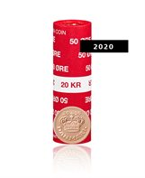 50-øre - 2020 Uncirculated coin (roll of 40 pcs)