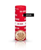 50-øre - 2016 - Uncirculated coin (roll of 40 pcs)