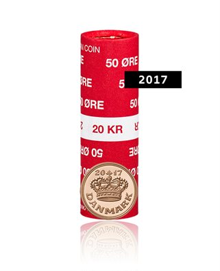 50-øre - 2017 - Uncirculated coin (roll of 40 pcs)