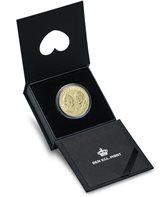 Golden wedding anniversary (HM the Queen and HRH the Prince), proof version (20-krone coin)