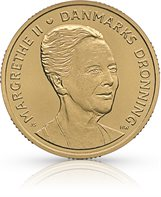 HM Queen Margrethe II´s 75th birthday - 20-krone coin - uncirculated (roll of 20 pcs)
