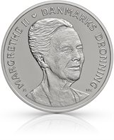 HM Queen Margrethe II´s 75th birthday - 500-krone coin silver