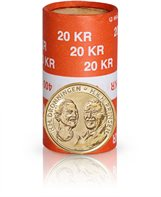 Golden wedding anniversary (HM the Queen and HRH the Prince), 20-krone coin uncirculated